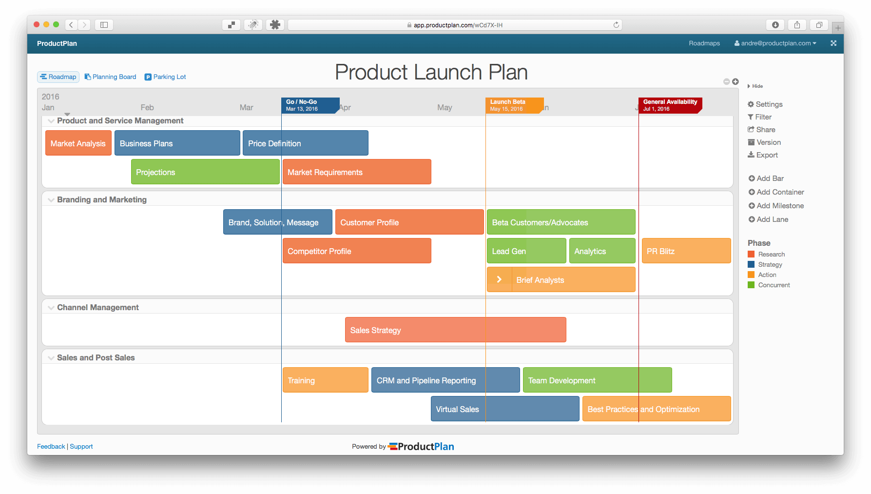 Product launch plan for Software release management plan template