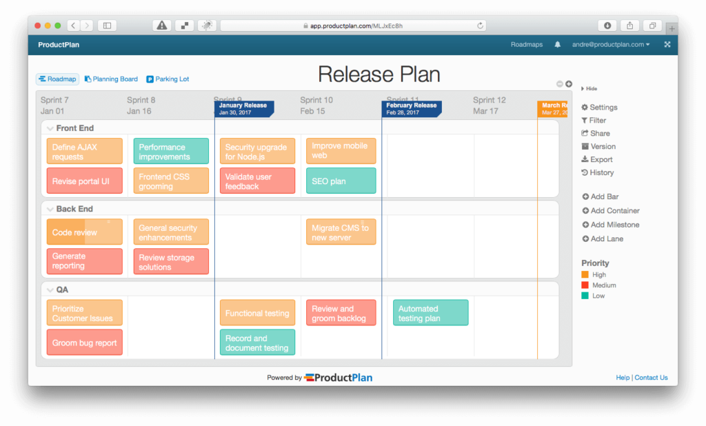 we typically think of a release plan as a method used by a project manager to track the execution details of a product roadmap