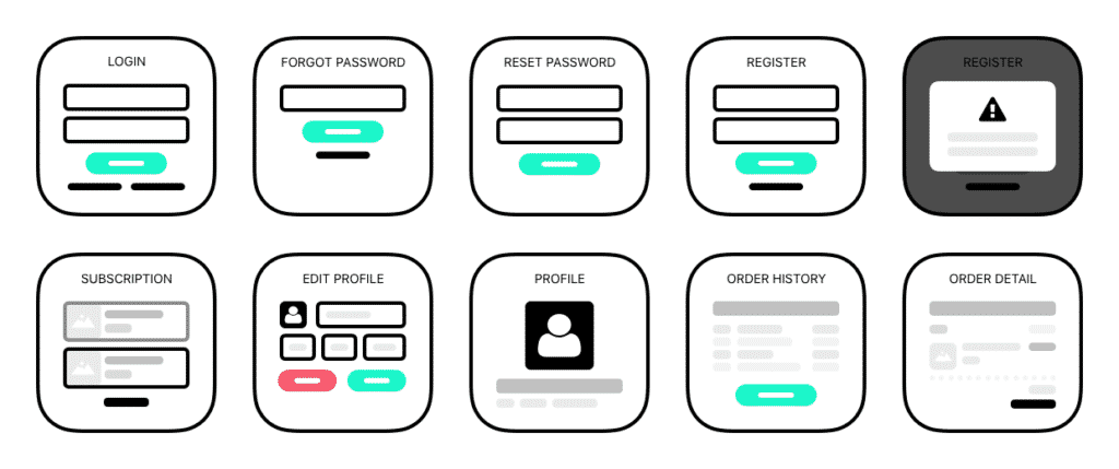 an example wireframe